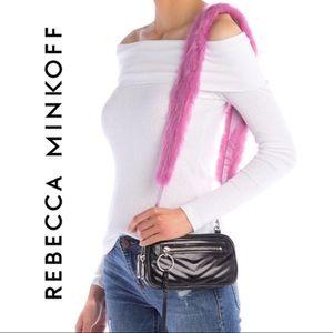 Rebecca Minkoff  Faux Fur Guitar Strap Bag.